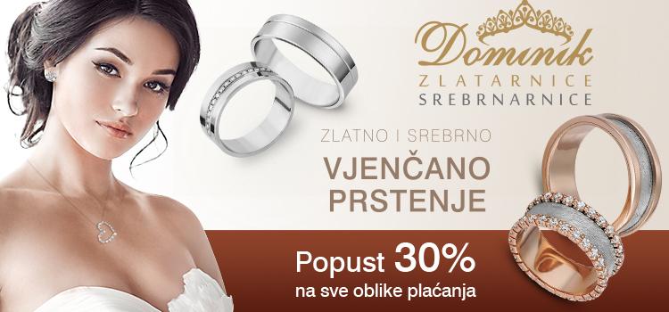 Zlatno i srebrno vjenčano prstenje na popustu!
