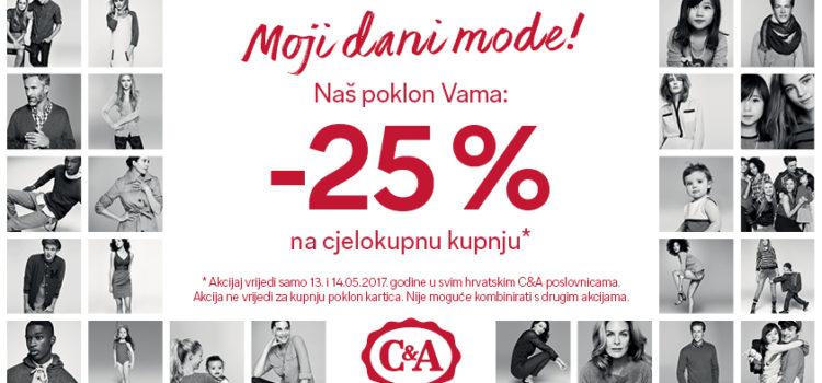 25% na SVE u C&A