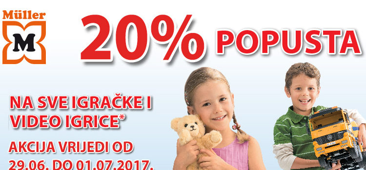 20% popusta na igračke
