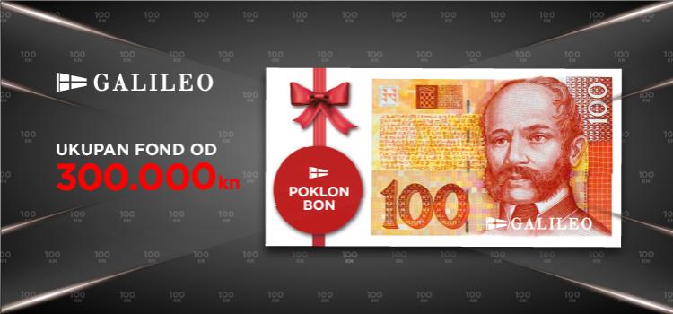 Galileo nagrađuje s poklon bonom od 100 kn
