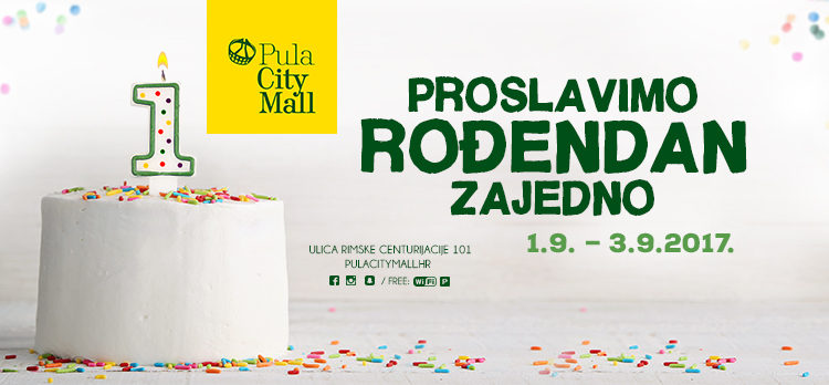 Rođendanski program Pula City Malla