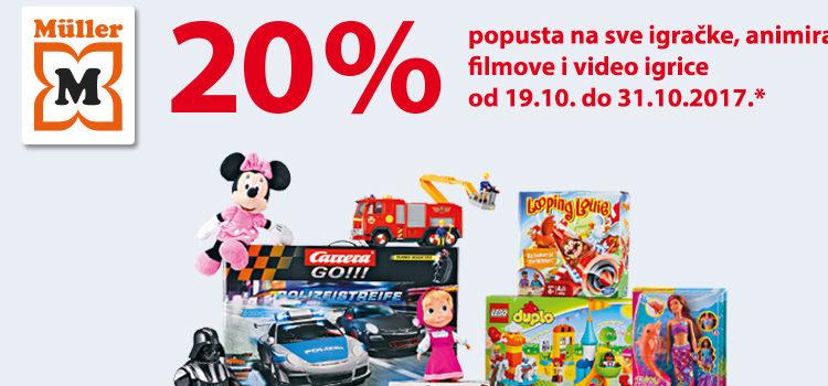 Müller – 20% popusta na igračke