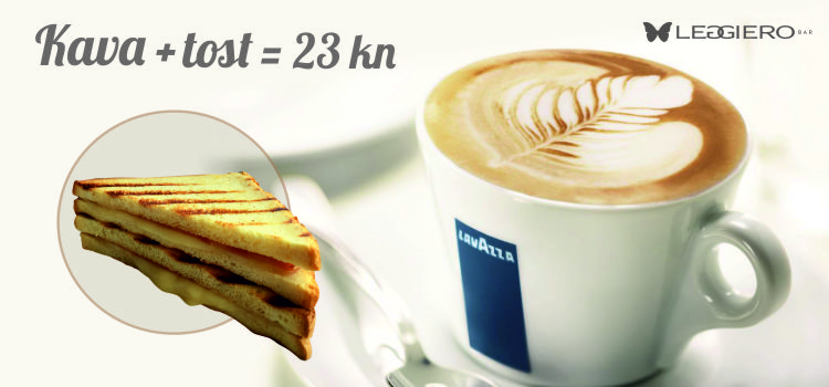 Leggiero + kava + tost = savršen dan!