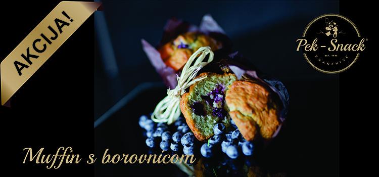 Akcija: Pek – Snack Muffin s borovnicom