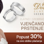 Zlatno i srebrno vjenčano prstenje na popustu
