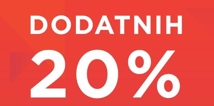 Sportina: dodatih 20% na jakne i kapute.