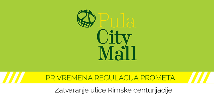 Alternativni prilaz u Pula City Mall iz smjera Ulice Rimske centurijacije
