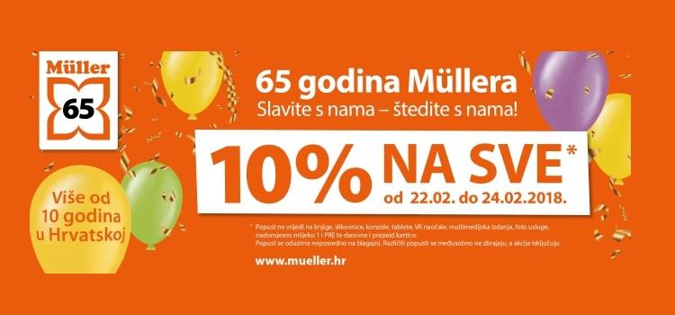 10% na SVE u Mülleru