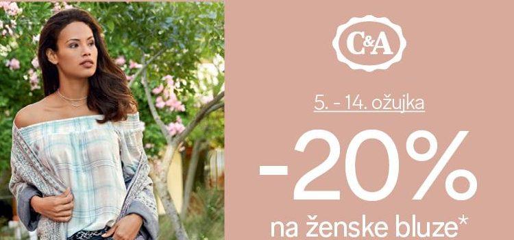 C&A 20% na ženske bluze