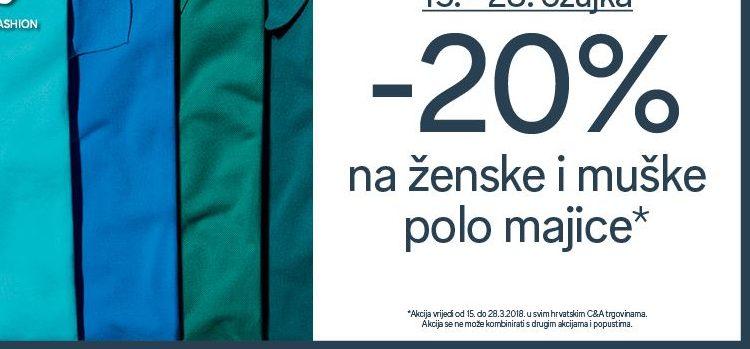 20% na polo majice u C&A