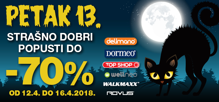 Petak 13. u Top Shopu uz popuste do -70%!