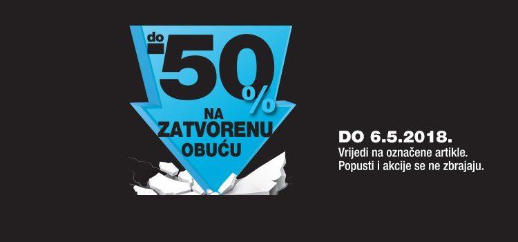 MASS akcija do 50% na zatvorenu obuću