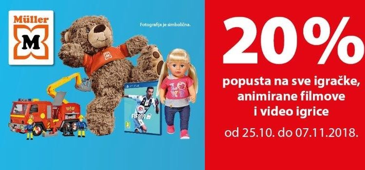 20% popusta na igračke!