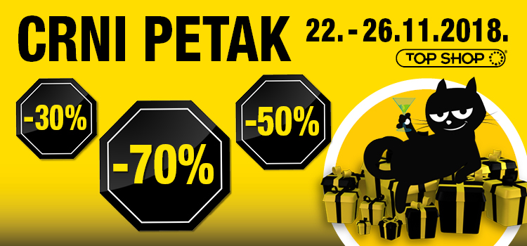 Crni petak u Top Shopu uz popuste do -70%!