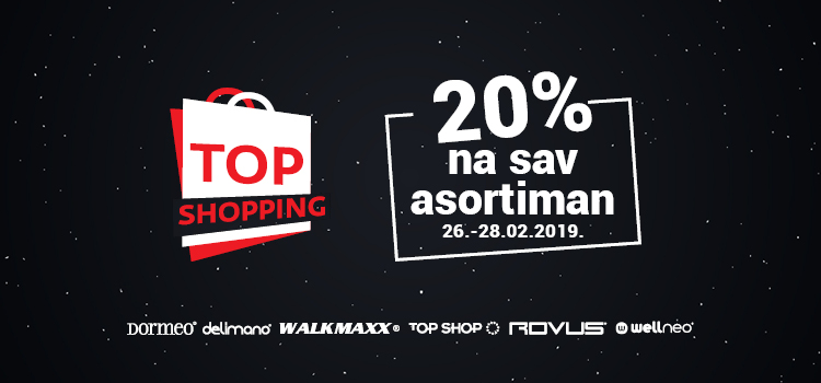 TOP SHOPPING uz 20% na SVE