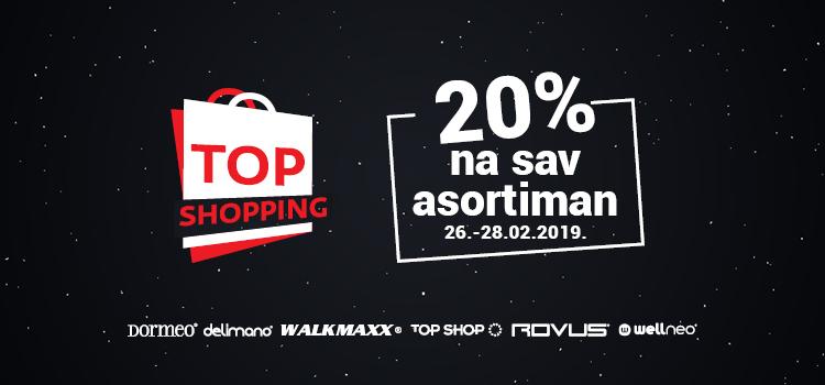 TOP SHOPPING uz 20% na SVE