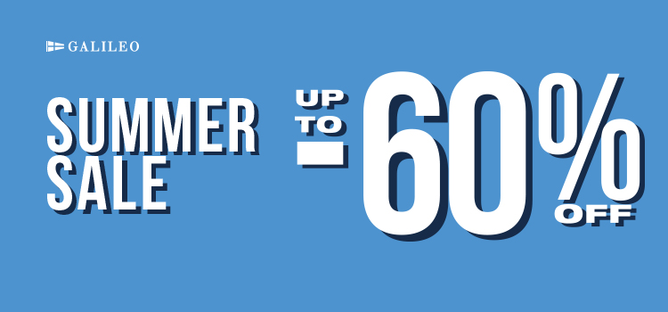 GALILEO SUMMER SALE up to 60% off!