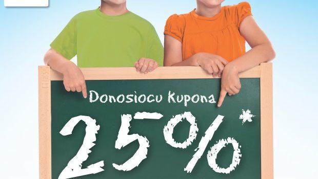 25% na školske torbe i ruksake