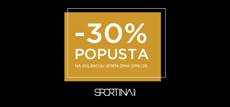 SPORTINA -30% na kolekciju jesen-zima 2019.