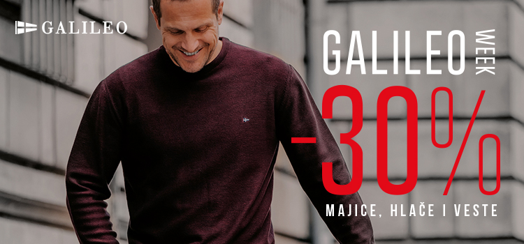 [Galileo week od 08.11. do 14.11] -30% na sve majice, hlače i veste!