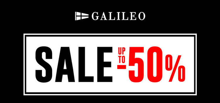GALILEO SALE up to -50%!