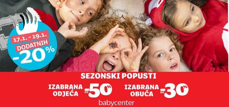 Dodatni popust u Baby Center trgovini!