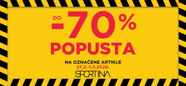 Do 70% popusta u Sportini!