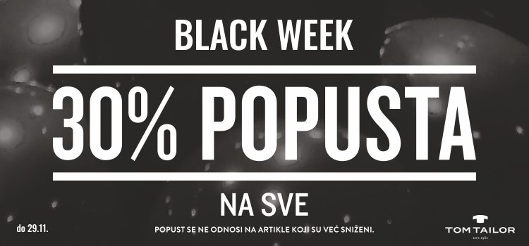 Black Week u Tom Tailoru!