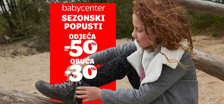 Sezonski popusti u Baby Centru!