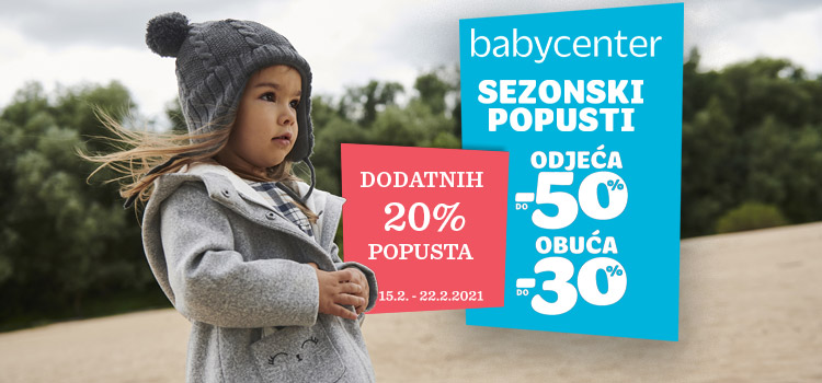 Baby Center donosi dodatne popuste!